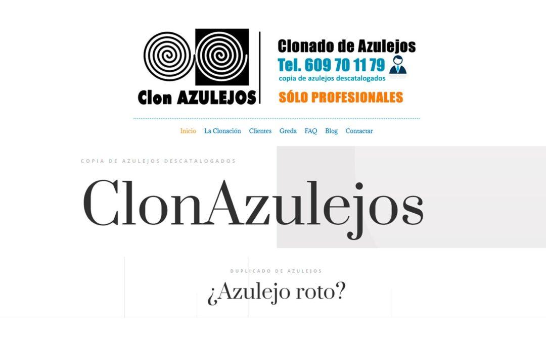 Clon Azulejos, Diseño de Página web