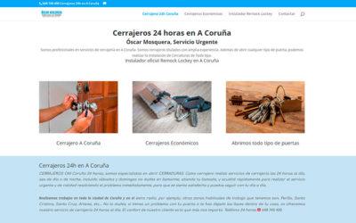 Cerrajero 24h Coruña, Diseño de Página web