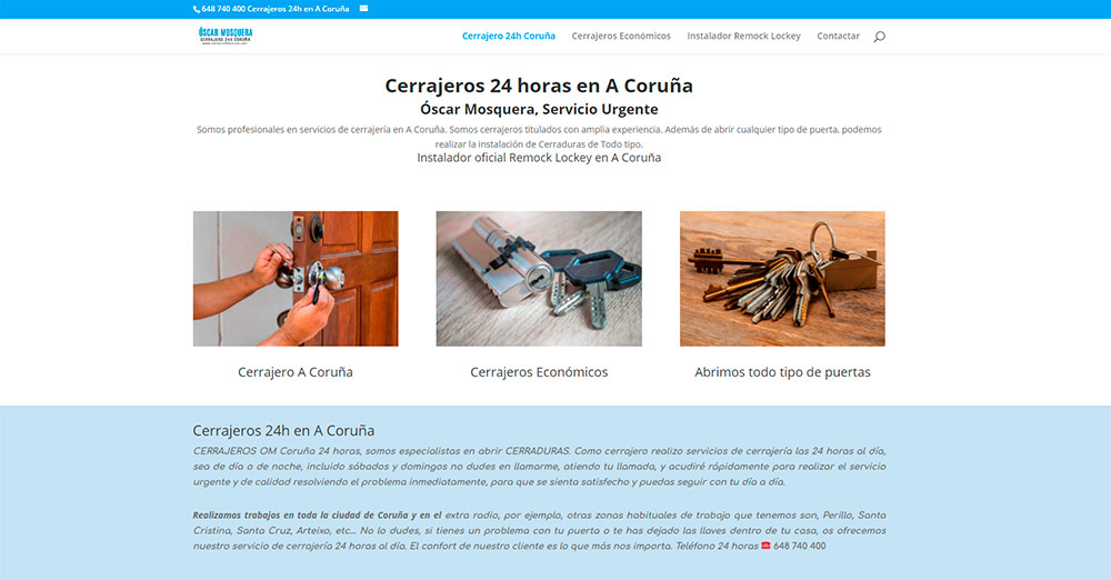 cerrajero 24h Coruña, Óscar Mosquera