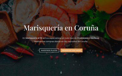 Restaurante Marisquería el 10, Diseño web