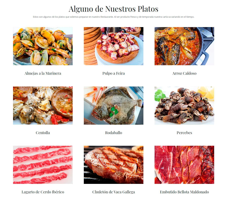 Restaurantes de pescados y mariscos en Coruña